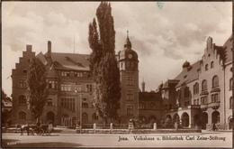 ! Alte Ansichtskarte Jena, Volkshaus, Bibliothek Carl Zeiss Stiftung, 1926 - Jena