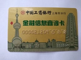 China,Financial Information Inquiry Card, Shanghai Oriental Pearl TV Tower,Industrial And Commercial Bank Of China (1pc) - Chine