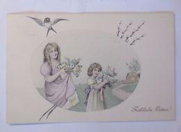 Ostern, Kinder, Mode, Blumen, Vogel,   1911, Munk Vienne ♥  - Ostern
