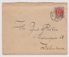 DANEMARK: Lettre De Horsens à Kjobenhavn Du 3.02.1894 - 1864-04 (Christian IX)