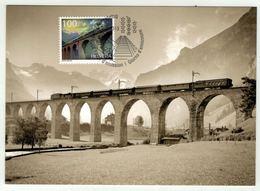 Suisse // Schweiz // Carte Maximum //  1 Carte Maximum Chemin De Fer Du Lötschberg 2013 - Maximumkarten (MC)