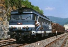 RU CT 17 - Train De Bois, Loco BB 67346 En Gare - SAINT-CLAUDE - Jura - SNCF - Trains