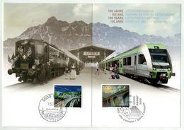 Suisse // Schweiz // Carte Maximum //  1 Carte 100 Ans Du Chemin De Fer Du Lötschberg - Maximumkarten (MC)