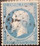FRANCE Y&T N°22a Napoléon 20c Bleu Foncé. Oblitéré Losange G.C. N°3722 Saint-Lizier - 1862 Napoleon III