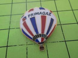 411G Pin's Pins / Rare Et  Belle Qualité !!! THEME : MONTGOLFIERES / BALLON LIBRE TRICOLORE PRIMAGAZ - Montgolfières