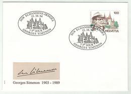 Suisse // Schweiz // FDC // 1994 //  Georges Simenon, No. 871 - FDC