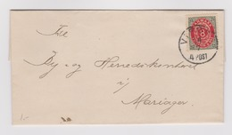 DANEMARK: Lettre De Viborg à Mariager Du 14.07.1895, 4 POST - 1864-04 (Christian IX)