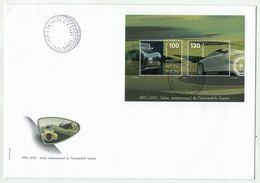 Suisse // Schweiz // FDC // 2005 //  Bloc-feuillet Spécial Salon De L'Automobile No. 1154 - FDC