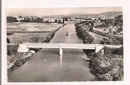 Verneuil: Vue Aérienne Du Pont De Try, Vallée De La Marne - Train De Péniches, Voie Ferrée - - Autres Communes