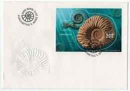 Suisse // Schweiz // FDC // 2015 //  Bloc-feuillet Spécial, Ammonite No.1540 - FDC