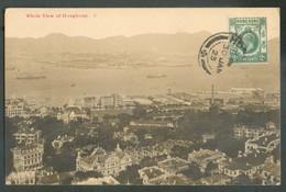 PPC (Whole View Of Hongkong)  From HONGKONG 30 Jan. 1923 To Jambes (Belgium) - 14534 - Hong Kong (...-1997)
