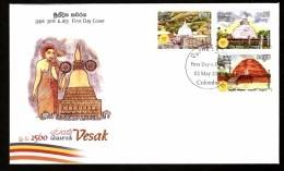 Sri Lanka 2016 Vesak Stupa Buddha Buddhist Architecture Religion FDC # 6988 - Sri Lanka (Ceylon) (1948-...)