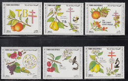 1982 Yemen Arab Republic TB Health Fruits Koch Complete Set Of 6 MNH - Yemen