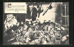 AK Liege, Belgian Soldiers Sleeping In The Forts Of Liege, Belgische Soldaten Im Nachtquartier - Militaria