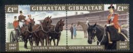 Gibraltar 1997 QEII Golden Wedding Anniv. MUH - Gibraltar