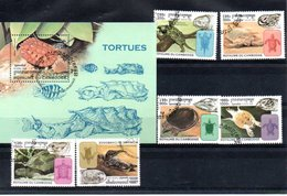 "CAMBODGE : Y&T(o)  N° 1556 à 1561  + Bloc 143  "" Tortues "" - Turtles"