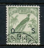 New Guinea 1932-34 Undated Bird 1d Opt OS FU - Papua New Guinea