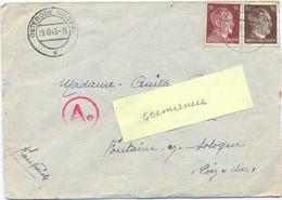 GUERRE 39-45 STO Au GEMEINSCHAFTS LAGER B OSTERODE OST PRUSSENNE Dt EYLAUER CHAUSSEE DEUTSCHLAND 29.10.43 - Marcophilie (Lettres)