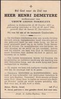 Lichtervelde, 1953, Henri Demeyere, Tommeleyn - Imágenes Religiosas
