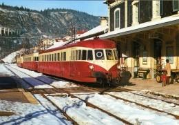 RU CT 26 - Autorail Renault ABJ 1 X 3005 En Gare - MOREZ - Jura - SNCF - Gares - Avec Trains