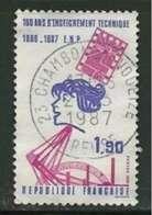 1986 Yt 2444 (o) Centenaire De L'Enseignement Technique - Used Stamps