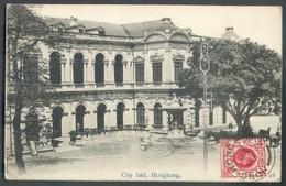 PPC (City Hall Of Hongkong)  From HONGKONG 6 March. 1920 To Jambes (Belgium) - 14535 - Hong Kong (...-1997)