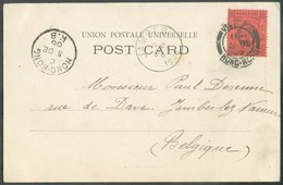 PPC (Hongkong Club)  From VICTORIA HONGKONG 5 Dec. 1905 To Jambes (Belgium) + Sc HONG KONG K.B.- 14536 - Hong Kong (...-1997)