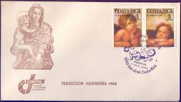 Costa Rica  1984, Christmas. Detail From Sistine Madonna By Raphael FDC. - Costa Rica