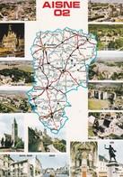CPM - Carte Géographique - France  Département  02 Aisne - Landkarten