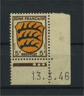 FRZ.ZONE 1945 Nr 3 Bru Postfrisch (116963) - Französische Zone