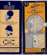 Carte Géographique MICHELIN - N° 071 La ROCHELLE - BORDEAUX 1949-2 - Cartes Routières