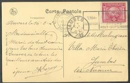 OLYMPICS - PPC (Anvers Av. DE KEYSER) Franked 10c. Olympic Games, Cancelled ANTWERPEN 6 VIIè OLYMPIADE From  16.8.1920 T - Summer 1920: Antwerp