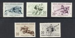 Turkey 1960 Summer Olympics Rome MLH - Unused Stamps