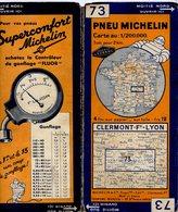 Carte Géographique MICHELIN - N° 073 CLERMON Fd - LYON N° 3442-106 - Strassenkarten