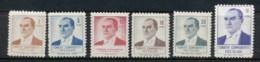 Turkey 1961-62 Kemal Ataturk MLH - Unused Stamps
