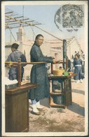 PPC (Chinese Lunch Counter In The Streets Of Peking) From CHENGCHOW 8 Aug. 1924 To Jambes (Belgium) - 14545 - 1912-1949 République