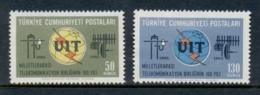 Turkey 1965 ITU Centenary MLH - Unused Stamps