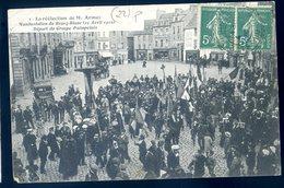 Cpa Du 22 Paimpol Réélection De Mr Armez Manifestation Du Bourg Blanc 25 Avril 1910 , Départ Du Groupe Paimpolais  LZ16 - Paimpol
