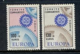 Turkey 1967 Europa MLH - Unused Stamps