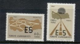 Turkey 1967 Inter European Express Highway MLH - Unused Stamps