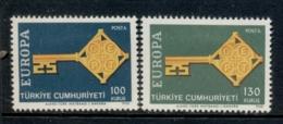 Turkey 1968 Europa MLH - Unused Stamps