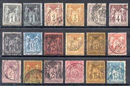 FRANCE - YT N° 83 à 101 - Cote: 320,00 € - 1876-1898 Sage (Tipo II)