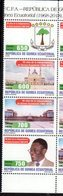 EQUATORIAL GUINEA, 2018, MNH, 50 YEARS OF INDEPENDENCE, CATHEDRALS, ARCHITECTURE, NATIONAL PALACE, COAT OF ARMS, 4v - Celebrations