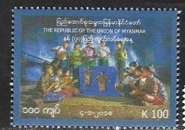 MYANMAR, 2019, MNH, INDEPENDENCE DAY, CHILDREN, PUPPETS,1v - Celebrations
