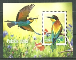 POLAND MNH ** Bloc 220 Faune Oiseau Guêpier D'Europe Oiseaux Bird - 1944-.... Republik