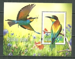 POLAND MNH ** Bloc 220 Faune Oiseau Guêpier D'Europe Oiseaux Bird - Blocs & Feuillets