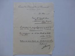 13 Saint-Chamas 1913, Gérance Du Domaine De La Baumelle (huile), Autographe  Ref 597 ; PAP06 - Frankreich