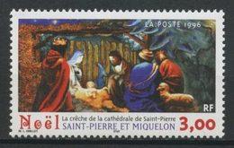 SPM MIQUELON 1996 N° 638 ** Neuf MNH Superbe C 1.70 € Noël Christmas Crèche Cathédrale Ce Saint Pierre - Neufs