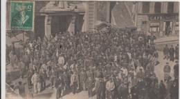 ROUEN GREVE DES TERRASSIERS 1910 SORTIE DE LA BOURSE DU TRAVAIL TBE - Rouen