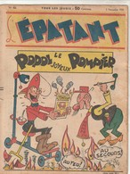 Rare L'épatant N°62 Novembre 1938 Avec Bd Pieds Nickelés - Pieds Nickelés, Les
